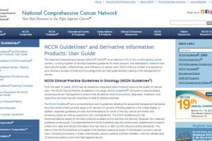 NCCN Clinical Practice Guidelines in Oncology